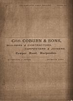Geo Coburn - Advert Harpenden Parish Magazine October 1913 | Coburn Collection