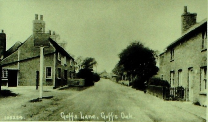 Goffs Lane, 1928. The Old Wheelwrights Arms can be seen on the left. | Iain Bickerton