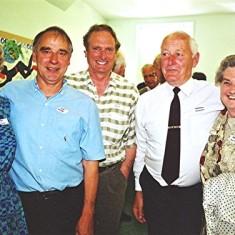 Left to right: Jean Govan, Ivor Webb, Alistair Govan, Norman Shepherd, Brenda Ventham | Geoff Webb