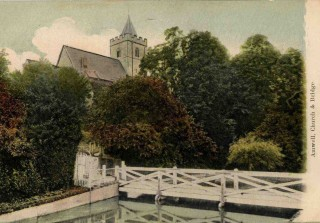 Parish church and the bridge across the New River pre 1914 | by H Pratt, Hertfordshire Archives and Local Studies