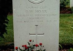 Bill Hoar's grave