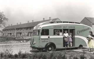 Shopping in the mobile van | Hertfordshire Archives and Local Studies
