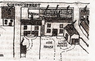 Drawing of Gert's house on Queens Street