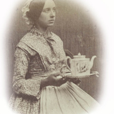 Girl with a teapot, c.1860 | Hertfordshire Archives and Local Studies, Ref: D/EBi 54-55