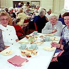 Left to right: Rose Large, Florence Luck, Jean Hall, Vera Luck, Mildred Cook | Geoff Webb