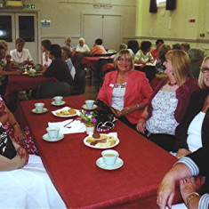 (Left to right): Linda Ward, Brenda Tibbs, Gill Winch, Monica Bigham, Shelda & Yvonne May. | Geoff Webb
