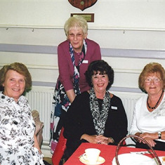 (Left to right): Pat Hallam (rear), Margaret Webb, Rose Maguire, Sheila Hales, Rosemary Stevens. | Geoff Webb