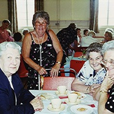 Left to right - Frances White, Betty Pratley, Brenda Ventham, Betty Winch | Geoff Webb