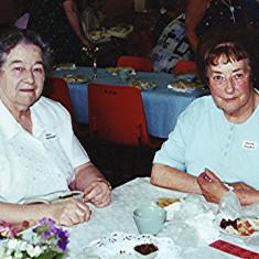 Beryl Burchmore (left) with Mollie Powell | Geoff Webb