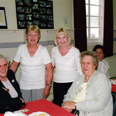 (Left to right): Betty Winch, Lorna Gurney, Gill Rogers, Anne Flitton, Ellen Smith (rear). | Geoff Webb