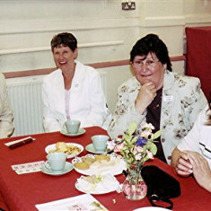 (Left to right): Pam Scrivener, Brenda Tibbs, Linda Ward, Pat Coates | Geoff Webb