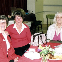 Stella May (left), Barbara Wheatfill (centre) and Alice Robertson. | Geoff Webb