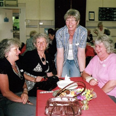 (Left to right): Twins Doreen & Sybil Bird, Gill Palmer, Daphne Herring. | Geoff Webb