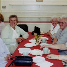 (Left to right): Thelma Coleman, Ann Flitton, Kath Smith, Betty Winch, Brenda Ventham | Geoff Webb