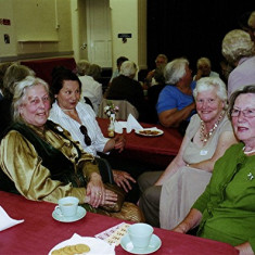 (Left to right): Maureen Hallwright, Toni Rus, Joan Draper, Lily Orchard. | Geoff Webb