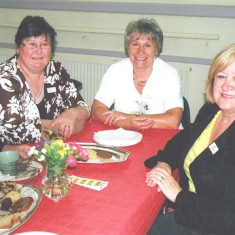 Linda Ward (left), Pam Scrivener (centre) and Pat Friar | Geoff Webb
