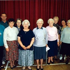 Helpers at the reunion, left to right: Jean Smith, Geoff Webb, Betty Henry, Doris Walker, Ruth Smee, Olive Fellowes, Dorothy Brown, Thelma Webb, Margaret Webb, Stella Williamson. | Geoff Webb