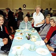 Left to right: Monica Reed, Kit Gurney, Edith Elborn, Joan Fox, Freda Coote, Phyllis Cowthard, Alice Rolph, Doris Pacey | Geoff Webb