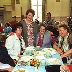 Left to right: Pam Orchard, Edna Game, Norma French, Brenda Ventham, Thelma Coleman, Iris Reading | Geoff Webb