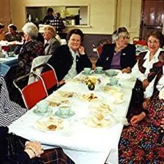 Left to right: Betty Hall, Vera Cooper, Rita Walton, Rene Mutimer, Barbara Walton, Marion Webb, Ruth Peacock. | Geoff Webb