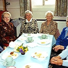 Left to right: Doris Pacey, Gladys Harborough, Violet Berryman, Gladys Smith, Monica Reed, Kit Gurney,  -  . | Geoff Webb
