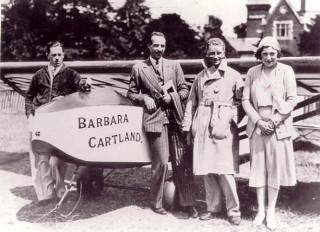 Barbara with her glider