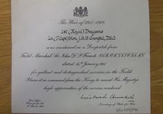 Julian Grenfell's Distinguished Service Order
