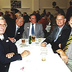 Left to right: Dennis Reading, Ronnie and Jim Hales, Dennis Winch, Alan Waller and Terry Day | Geoff Webb
