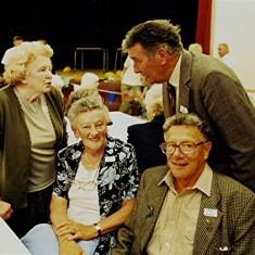Left to right: Betty Hall, Ann & John Boden, Ray Webb (rear) | Geoff Webb