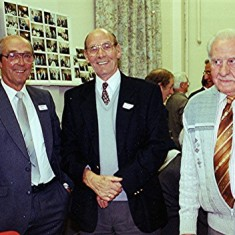 Left to right: Norman and Alec Peck, Bill Hall | Geoff Webb