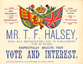 Election poster for Thomas Halsey 1852   Hertfordshire archives and Local Studies. Ref: D/EHl F167