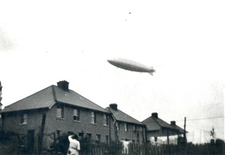 Airship over Watling Street | Harrison Collection