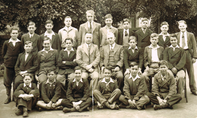 Pupils in Class One at Hatfield Road School, June 1939