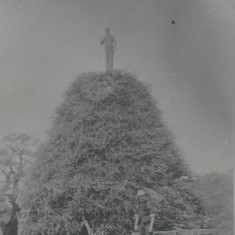 Bonfire in Hatfield Park to celebrate the Silver Jubilee of King George V in 1935 | Hertfordshire Archives & Local Studies