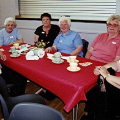 Left to right: Beryl Hedges, Joyce Brett, Rosalind Brett, Beryl and Janet Batchelor, Ann Flitton. | Geoff Webb