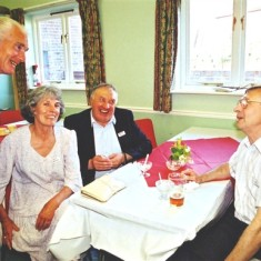 Left to right: Ron Henry, Edna Peacock, George Shaw, Jim Burrows | Geoff Webb