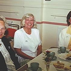 Left to right: June Honeywood, Doreen and Valerie Herring.   Geoff Webb