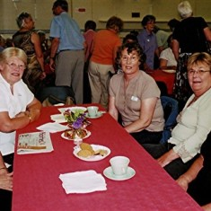 (Left to right): Doreen Herring, Lorna Gurney, Mary Pease, Jackie Hawkins, Lily Orchard. | Geoff Webb