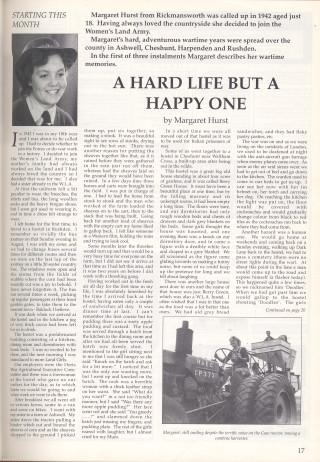 The Memoirs of Margaret Hurst Part One