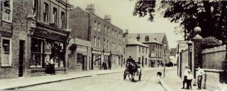 Looking north, c 1905, with Blaxlands on the left | Hertfordshire Archives & Local Studies