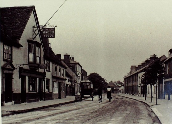 High Street north of Cadmore Lane, looking north, c 1928