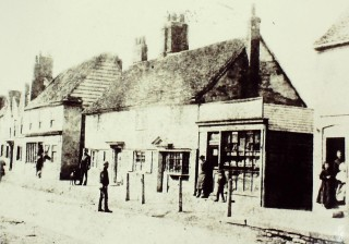 West side of High Street, just north of the Ship, c 1880 | Hertfordshire Archives & Local Studies