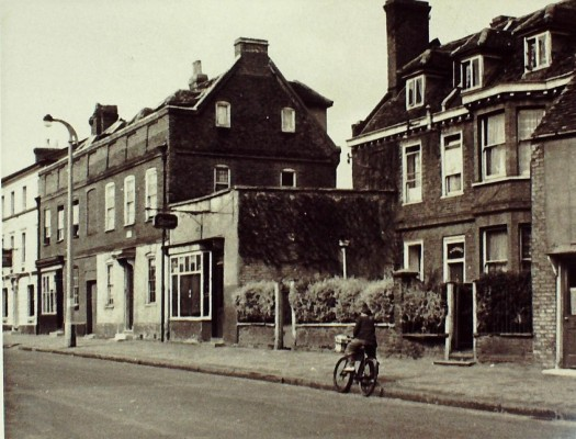 West side of High Street, with St Gothards standing back, 1948