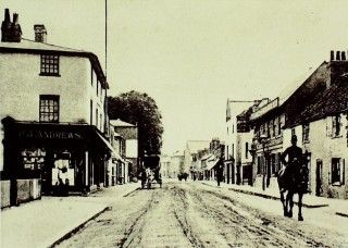 Looking south, with Cadmore Lane on the left. P.J. Andrews was a draper's shop occupying part of Cheshunt House | Hertfordshire Archives & Local Studies