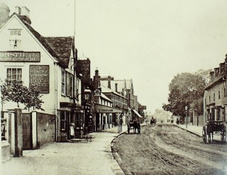 Looking north, 1902, showing Taylor the Butcher | Hertfordshire Archives & Local Studies