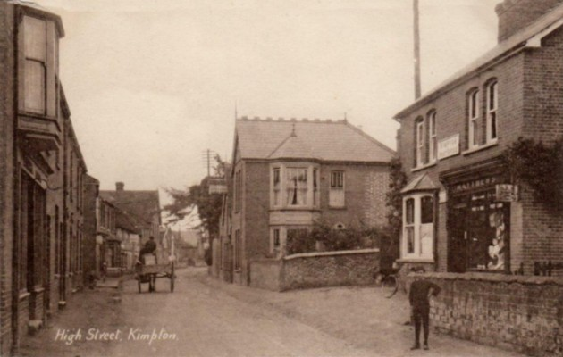 A view of the High Street published by G Matthews, Post Office, Kimpton