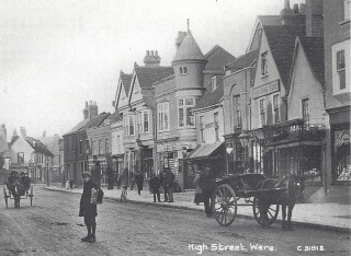 High Stree showing The Wine Lodge, c1910   Hals