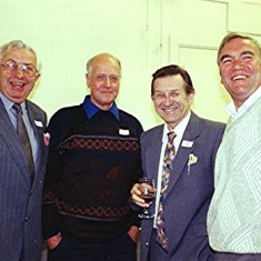 Left to right: John Hill, Charlie Brown, Roger May, Ray Clarke | Geoff Webb