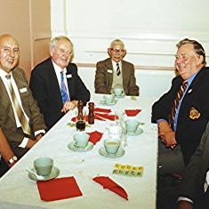Left to right: Roy Flitton, Peter Fry, Colin Alexander, Alf Day, Geoff Hobbs, Derek Elsom. | Geoff Webb