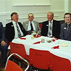 Left to right: George Allen, George Brett, Geoff Hobbs, Len Smith, Derek Elsom, Roger May and Jo Windsor | Geoff Webb